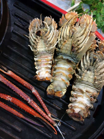 repast: Seafood on The electric grill