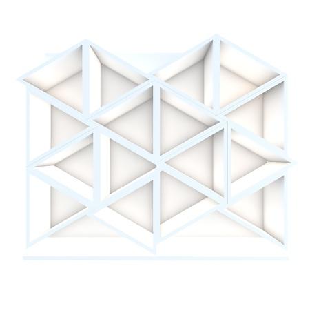 Color white triangle shelf design with white background Stock Photo - 16849553