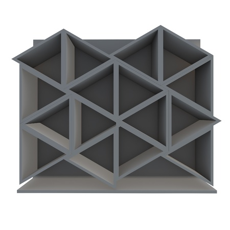 Color gray triangle shelf design with white background Stock Photo - 16849554