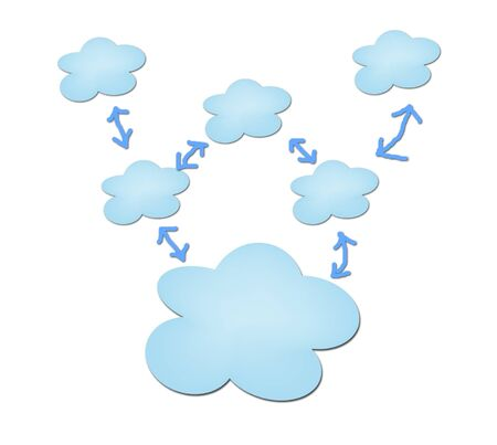 clouding: Clouding technology computing concept