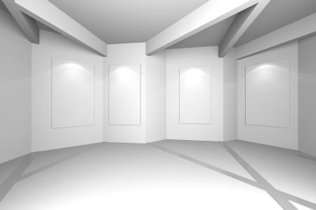 Galer�a Interior con los marcos vac�os en la pared