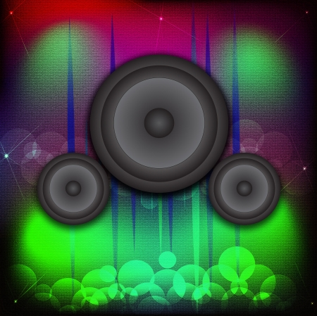 Disco club of abstract colorful design elements  Ideal for poster and music background   photo
