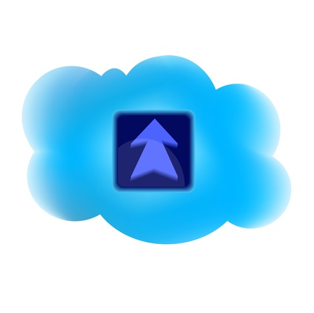 clouding: Clouding technology computing concept with arrow icon