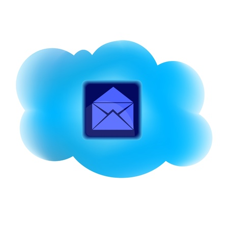 clouding: Clouding technology computing concept with mail icon  Illustration