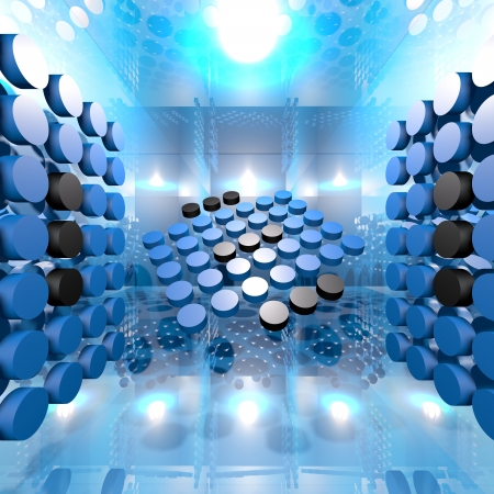 Abstract Blue Digital Interior Room Background  Ideal for digital background