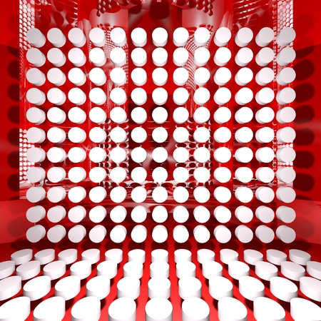 Abstract Red Digital Interior Room Background. Ideal for digital background.  photo