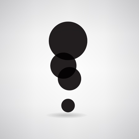 Black exclamation mark symbol. Concept is circle represents a group of people Vector