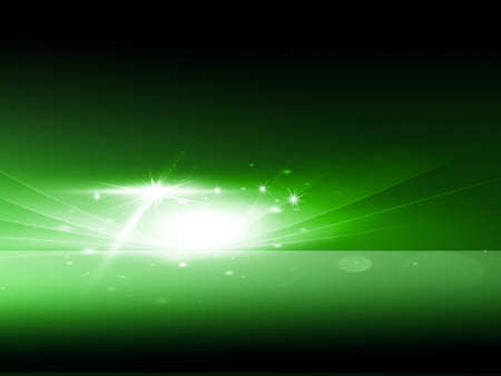 Lighting on green abstract background  photo