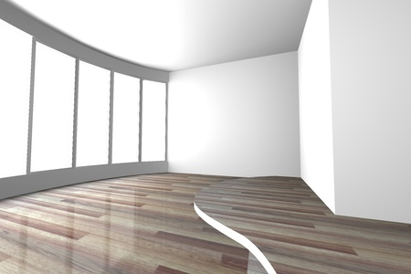 White curve space empty room for interior design present of living room and meeting room photo