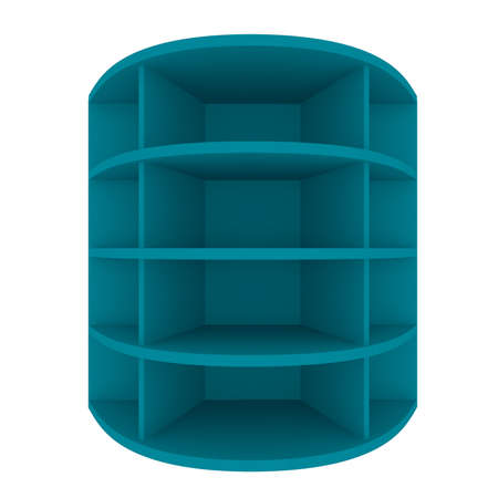 Empty blue shelves with curved design for Ad Stock Photo - 20986017