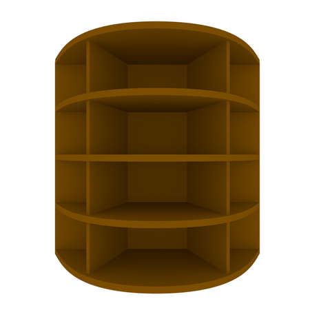 Empty brown shelves with curved design for Ad Stock Photo - 20986018