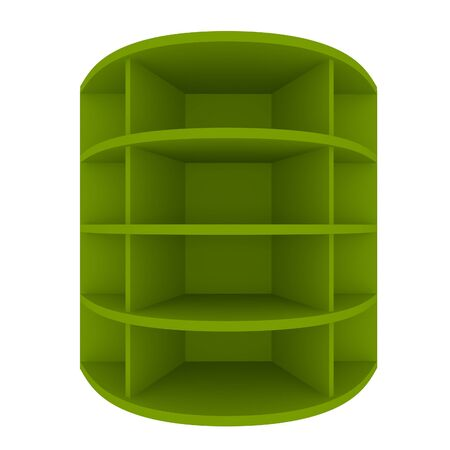 Empty green shelves with curved design for Ad Stock Photo - 20986021