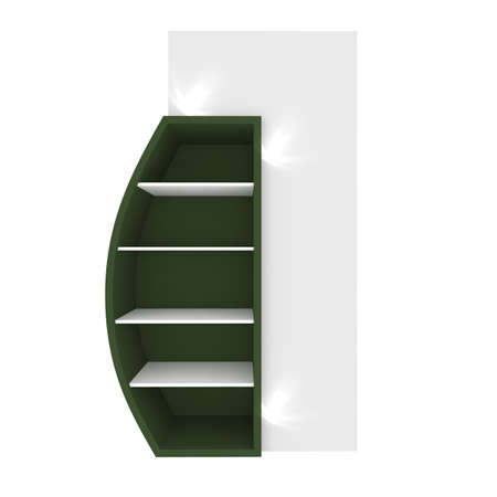 Empty green shelves with curved design for Ad Stock Photo - 20986023