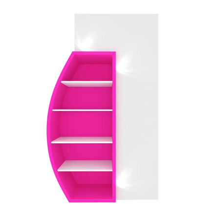 Empty pink shelves with curved design for Ad Stock Photo - 20986025