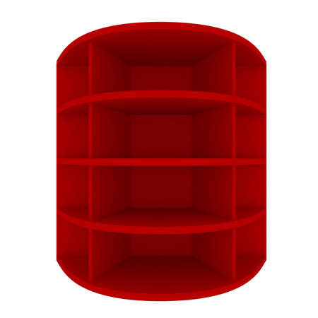 Empty red shelves with curved design for Ad Stock Photo - 20986052