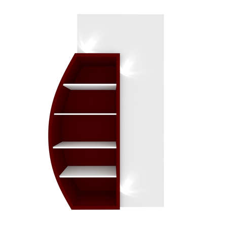 Empty red shelves with curved design for Ad Stock Photo - 20986028