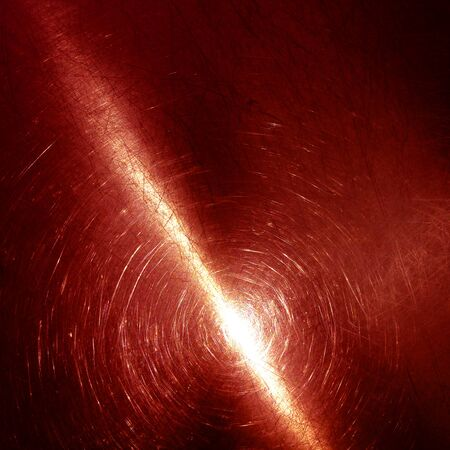 Old circular brushed abstract color red aluminum metallic plate for backgrounds Stock Photo - 21746334
