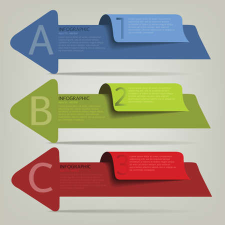 Modern Business Design template ; can be used for infographics ; numbered banners; graphic or website layout vector Vector