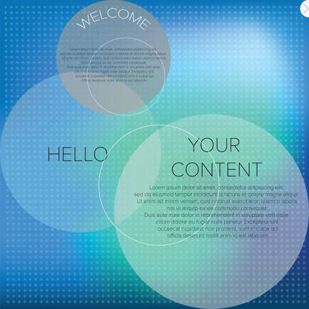 Blurred web design template vector Vector