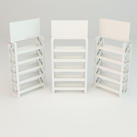 truss: White shelves truss design on white background