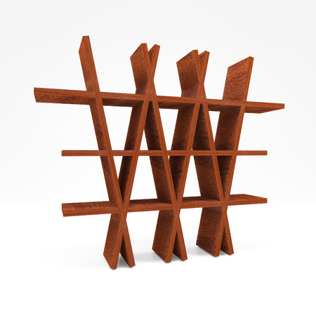 mahogany: American Mahogany Wood Shelf on white background Stock Photo