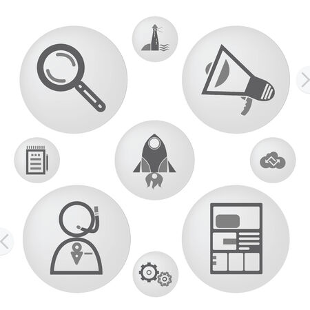 clound: Minimalist Interface Icons Set Modern Design Illustration