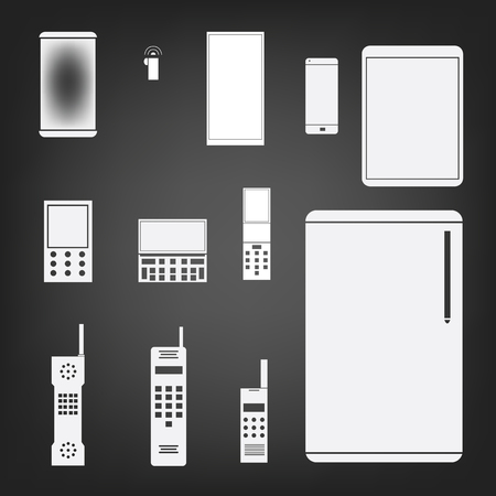phone set simple icon illustration Vector
