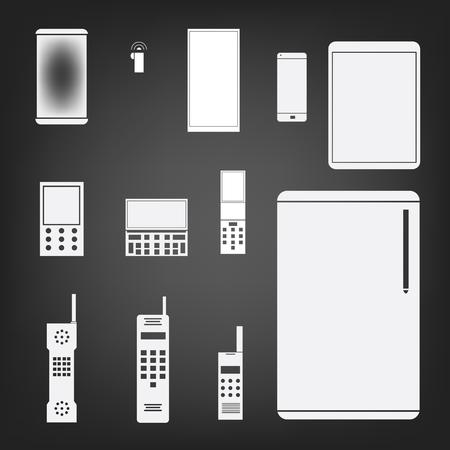phone set simple icon illustration Vector