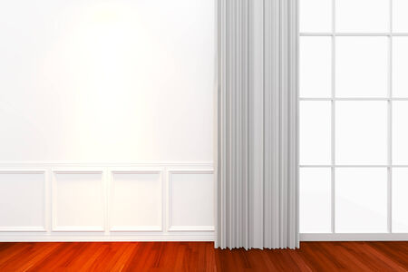Interior white wall with window photo