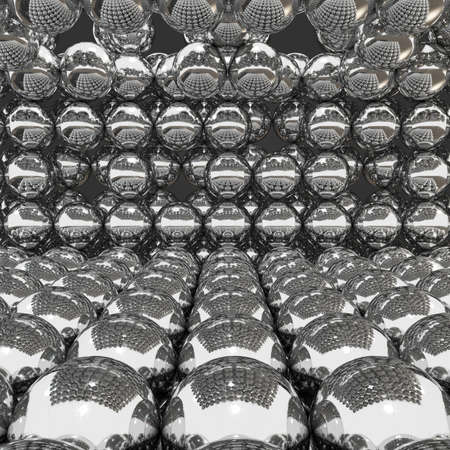 chrome ball: chrome ball abstract background