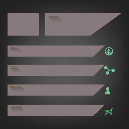 Flat website templates designs, Vector Vector