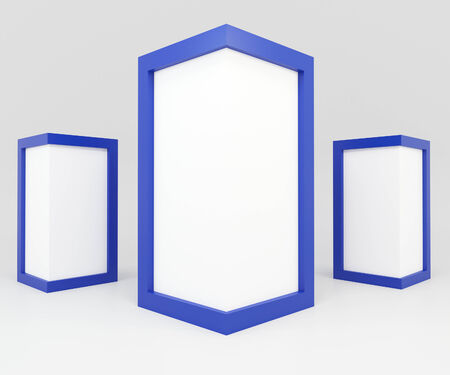 advertise: Blank Blue Frame for Advertise
