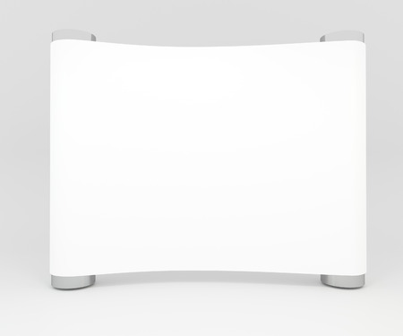 business exhibition: Blank trade show white display booth for design Stock Photo