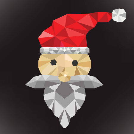 santa clause: Merry Christmas with santa clause. abstract polygon  Illustration