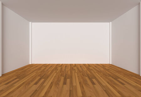 wooden floors: Empty room color wall and decorated with wooden floors.
