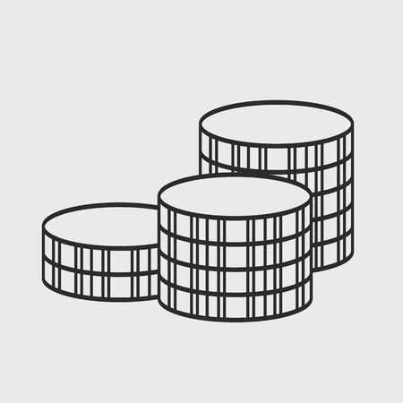 thickness: Coins Icon, thickness line style