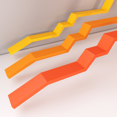 Level report orange line, You can use is background in creating your work has been fantastic., high resolution 3D image Reklamní fotografie - 47853613