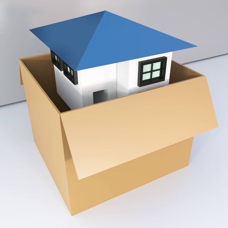 come home: Open the box to come home, You can use is llustration in creating your work has been fantastic., high resolution 3D image