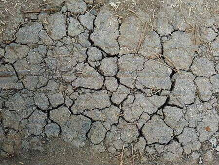 Cracked ground field floor texture for background Banco de Imagens - 132914908