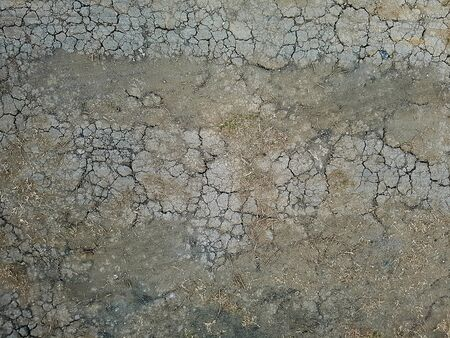 Cracked ground field floor texture for background Banco de Imagens - 132914909