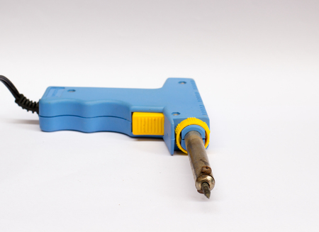 soldering iron on the white background isolate with copy space ,