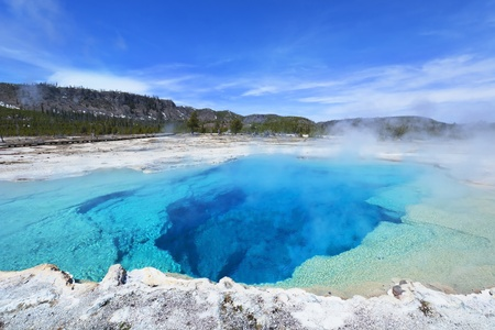 Sapphire Pool, Yellowstone National Park Stock Photo