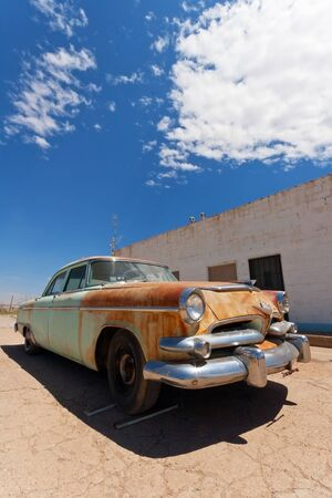 rusty car: Old Car on Route 66