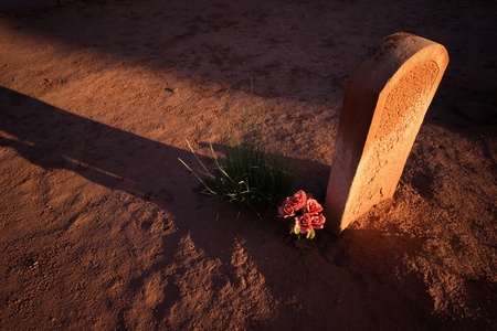 ghost town: Ghost Town Cemetery Stock Photo