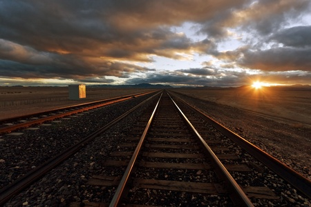 diesel locomotives: Railroad Track