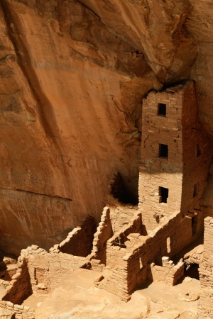 adobe pueblo: Square Tower House, Mesa Verde National Park