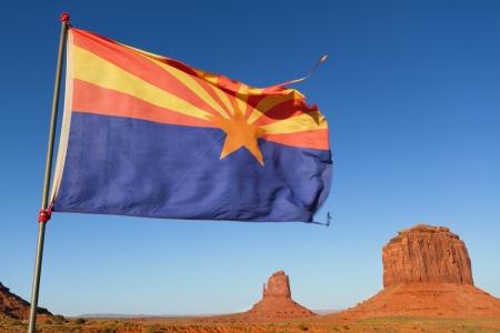 Arizona Flag in Monument Valley Stock Photo - 13916548