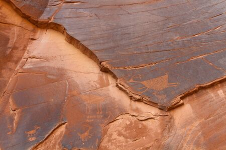 Petroglyph in Monument Valley photo