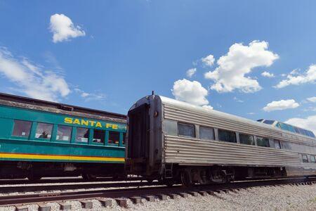 fe: Train at Santa Fe Station Editorial