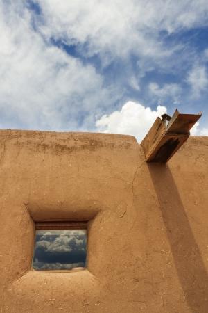 pueblo: Taos Pueblo Window Editorial